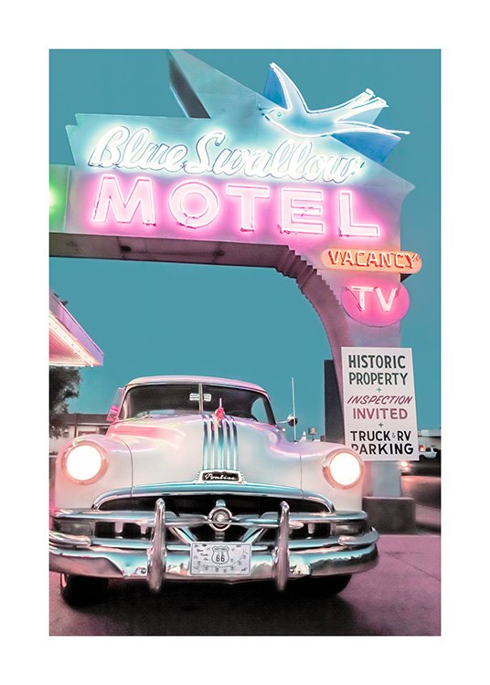 Blue Swallow Motel Poster / Photographs at Desenio AB (12774)