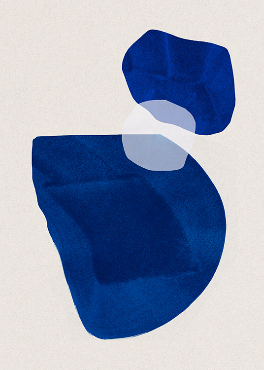 Cobalt Shapes No2 Poster / Abstract art at Desenio AB (13662)