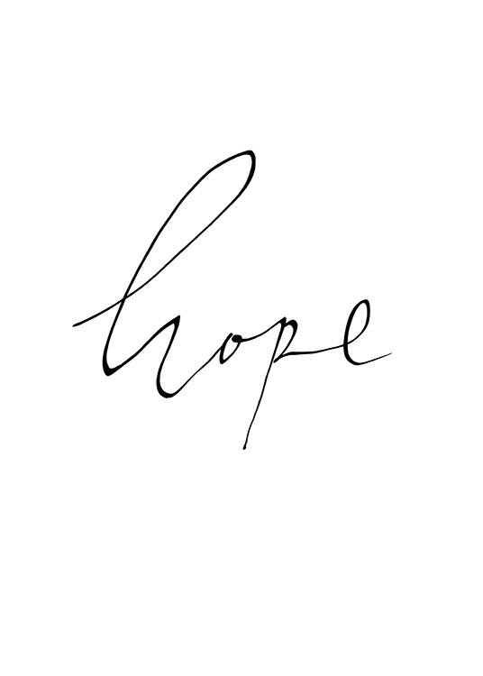 Hope Handwritten Poster / Text posters at Desenio AB (13903)