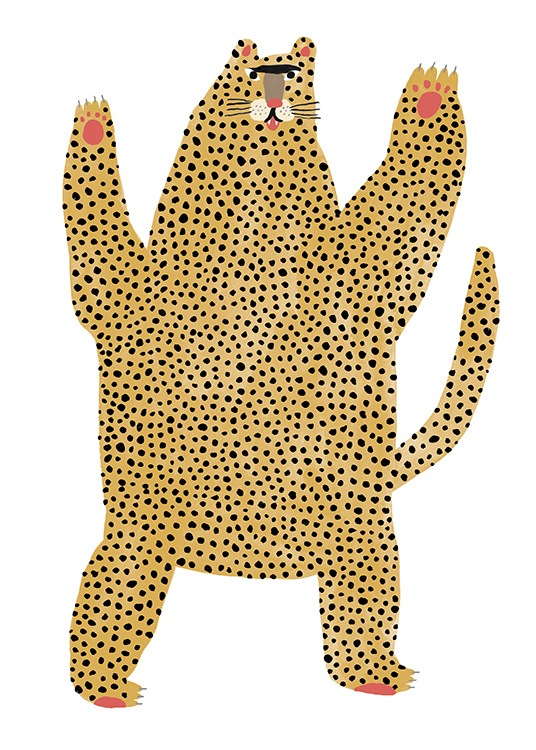 Cheetah Pal Poster / Animal illustrations at Desenio AB (13941)