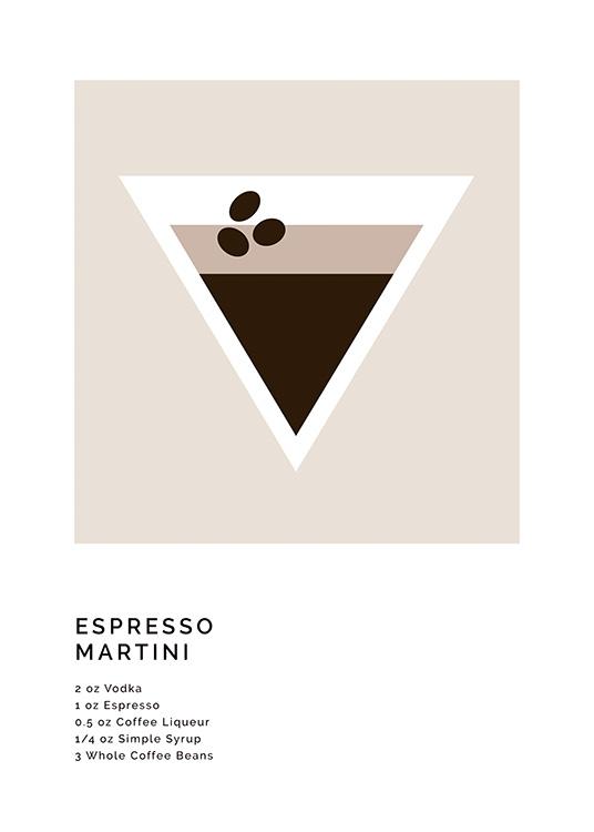 Graphic Espresso Martini Poster Espresso Martini Recipe Desenio
