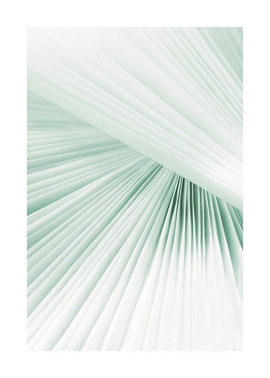 – Photograph with close up of a pleated paper in mint green