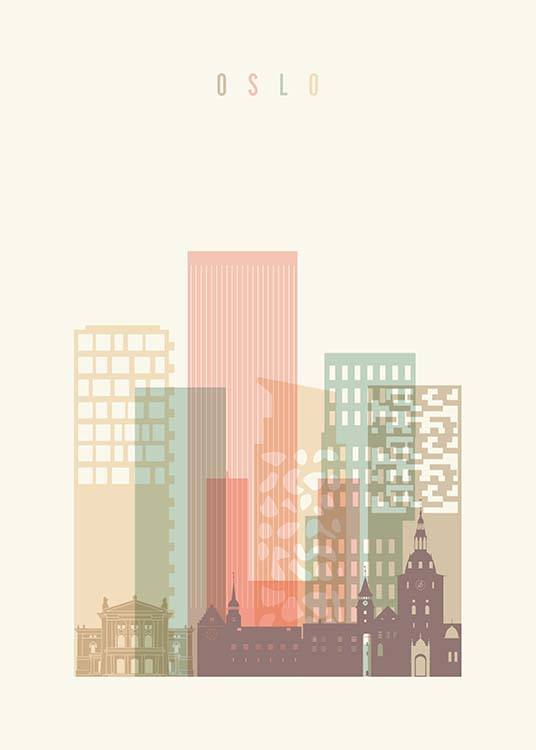 Oslo Skyline Poster / Maps & cities at Desenio AB (2140)