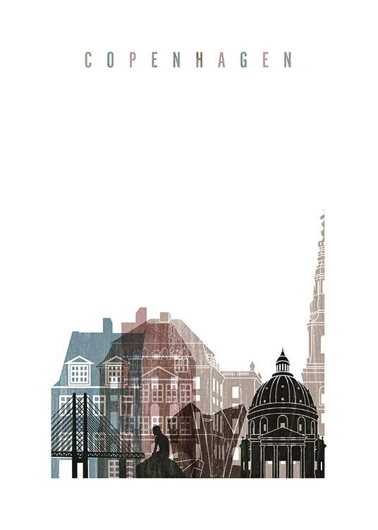 Copenhagen Skyline Poster / Maps & cities at Desenio AB (2141)