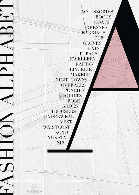 Fashion - A Poster / Text posters at Desenio AB (2172)