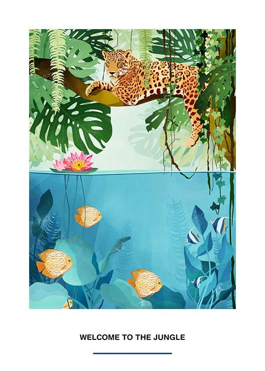 Welcome To The Jungle Poster / Kids posters at Desenio AB (2527)