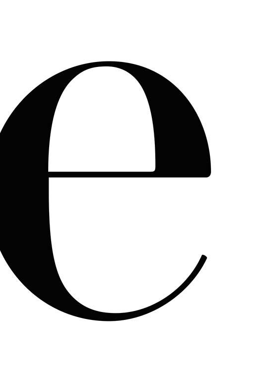 Letter E Poster / Text posters at Desenio AB (2618)