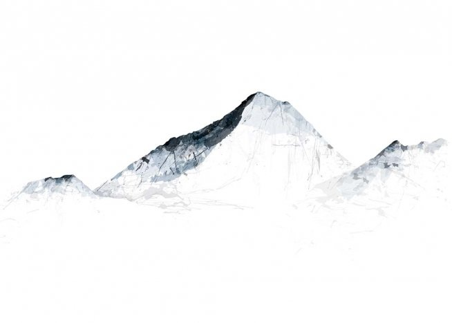 Grey Mountains Everest Poster / Art prints at Desenio AB (2990)