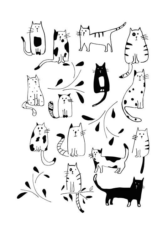 Cats Poster / Kids posters at Desenio AB (3117)