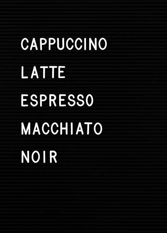 Coffee Chart Poster / Text posters at Desenio AB (3130)