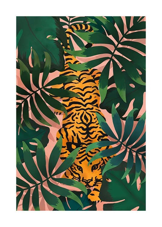 Tiger In Jungle Poster / Animals at Desenio AB (3147)