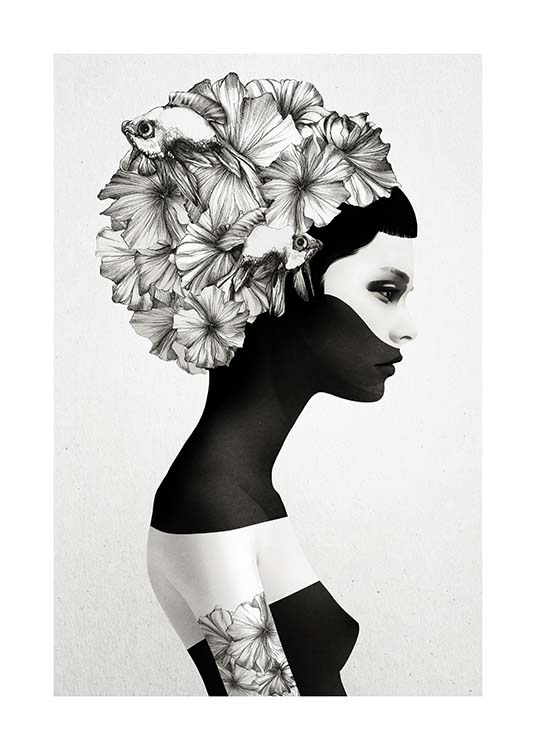 Marianna Poster / Black & white at Desenio AB (3207)