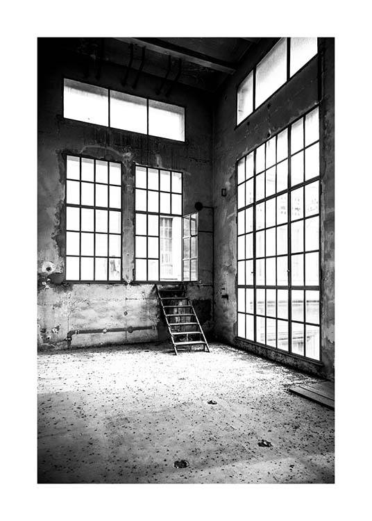 Abandoned Building Poster / Black & white at Desenio AB (3290)