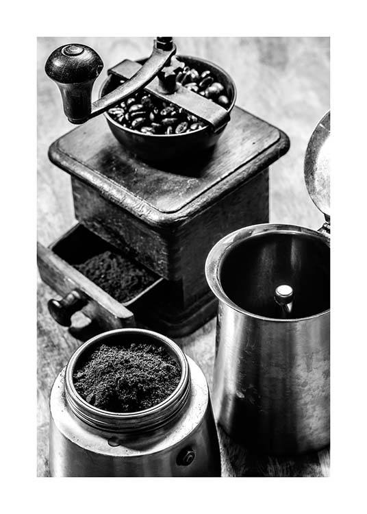 Moka Espresso Poster / Black & white at Desenio AB (3331)