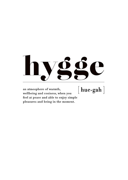 Hygge Poster / Text posters at Desenio AB (3349)