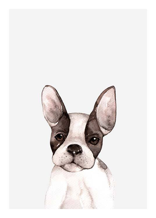 Little Puppy Poster / Kids posters at Desenio AB (3366)