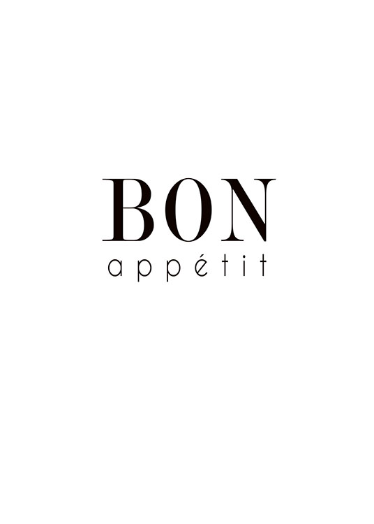 Bon Appetit Text, Poster / Text posters at Desenio AB (7839)