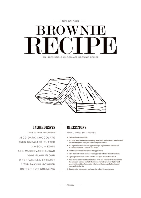 Brownie, Poster / Text posters at Desenio AB (7866)