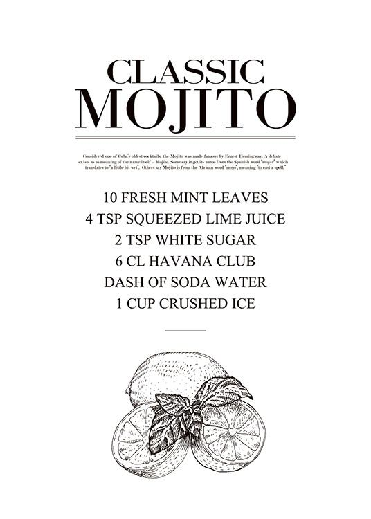 Mojito, Poster / Text posters at Desenio AB (7889)
