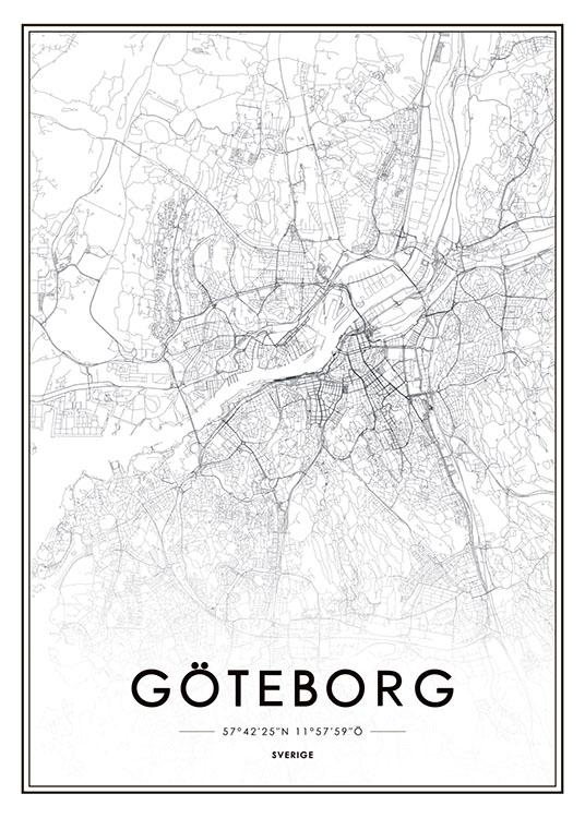 Poster With Goteborg Map Prints Online Desenio Com Au