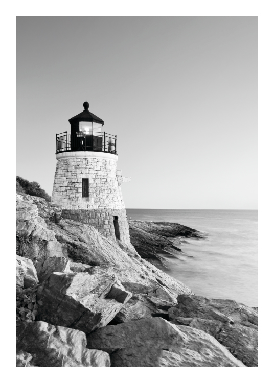 Lighthouse, Poster / Black & white at Desenio AB (8163)