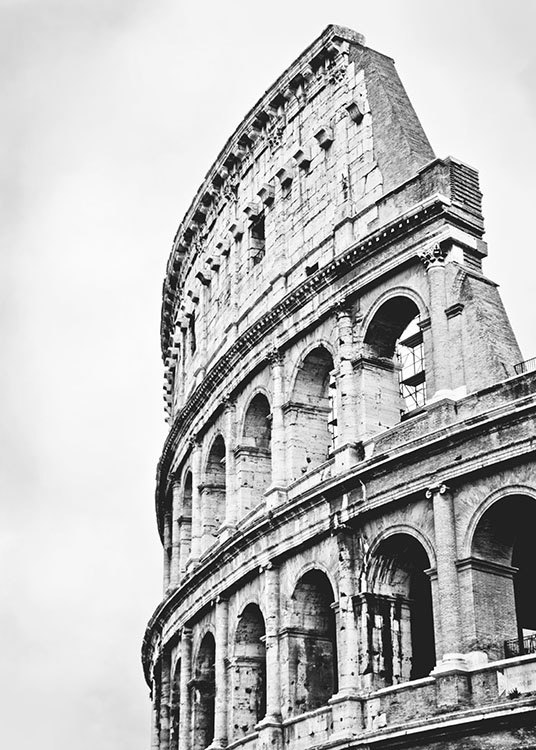 Colosseum, Poster / Black & white at Desenio AB (8214)