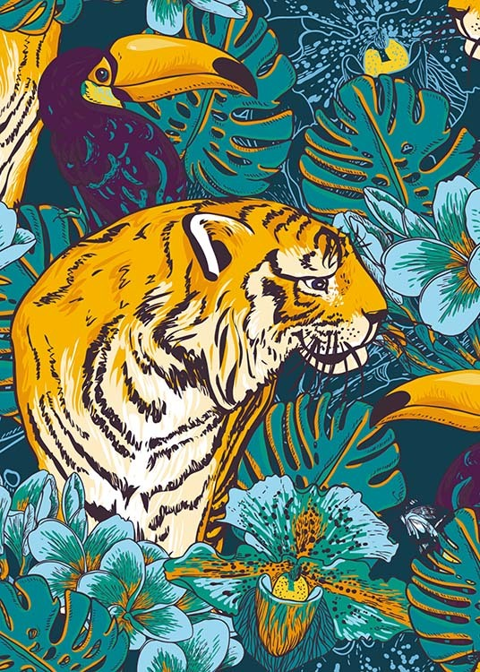 Tiger In Paradise Poster / Art prints at Desenio AB (8778)