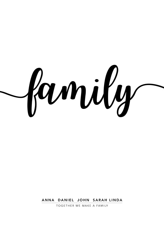 Family Personal Poster / Personalised prints at Desenio AB (pp0020)