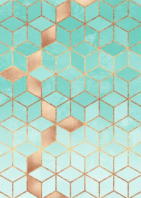 Soft Gradient Aquamarine Poster / Art prints at Desenio AB (pre0034)