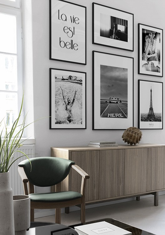 Picture wall inspiration   Stylish gallery walls at Desenio